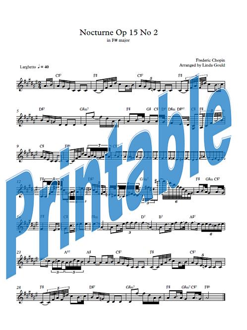 Chopin Nocturne F# Lead Sheet