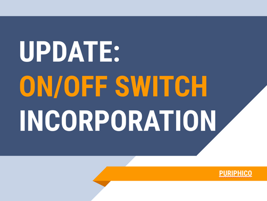 update: on/off switch incorporation in Puriphico
