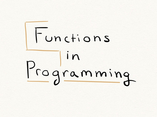 Functions in programming: a conceptual overview