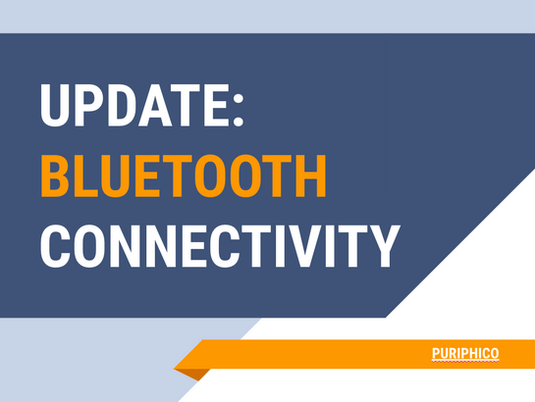 update: bluetooth connectivity in Puriphico device