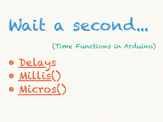 time functions in arduino programming