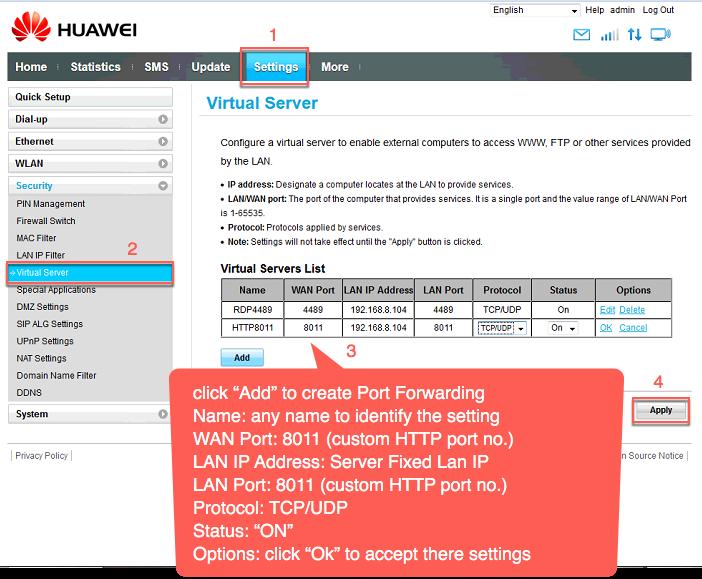 Huawei ip admin - apalonislamic