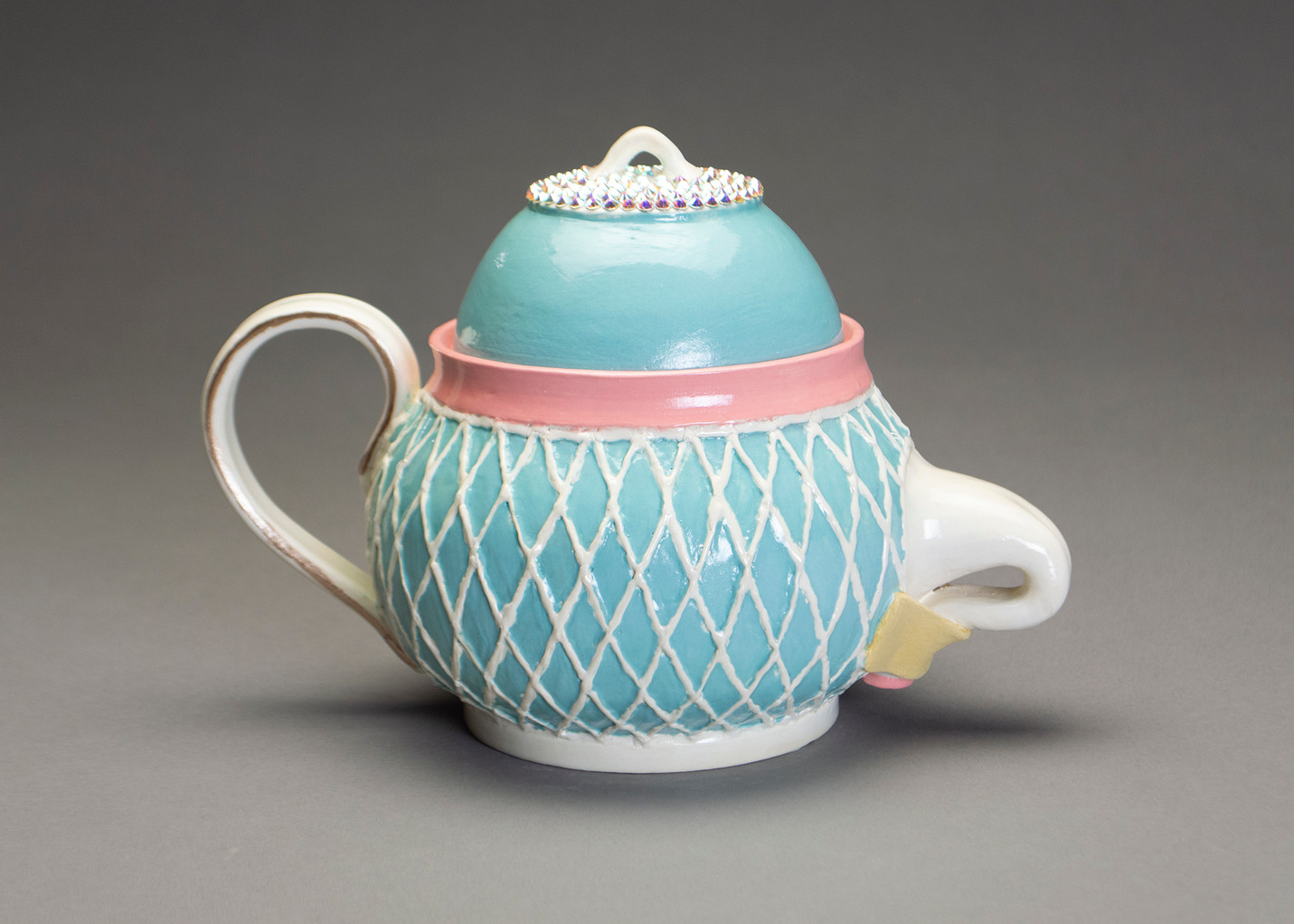 Tucked Teapot: Blue