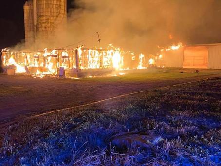Chief, Engine and Ladder Run South Onondaga Barn Fire