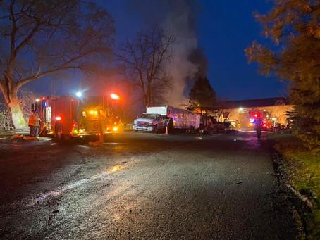 Engine Company Runs Solvay Vehicle Fire
