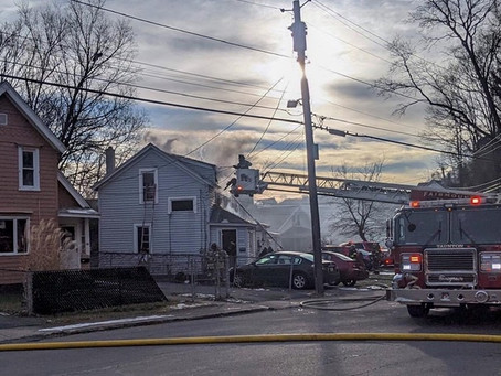 Engine Company Responds To Solvay Residential Fire
