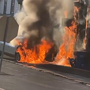 Vehicle Fire With Extension