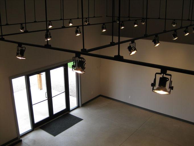 Suspended track lighting fixtures shapeyourminds suspended track lighting front entry t aloadofball Gallery