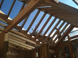 Timber garage conversion