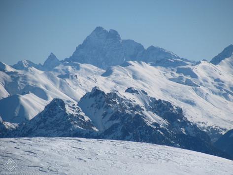 Magnifique Mont Viso en hiver