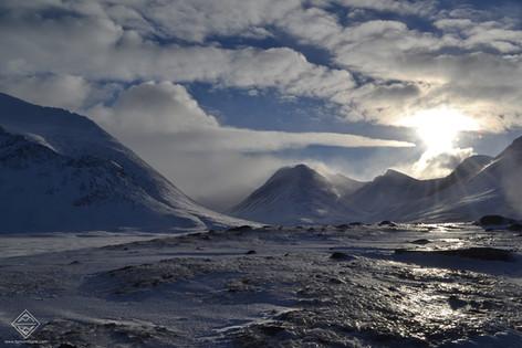 Raid en ski pulka dans le Sarek