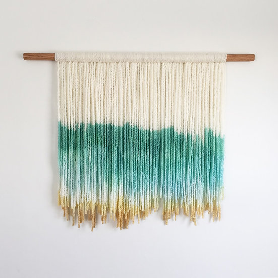 Green and Yellow Dip Dye Tapestry