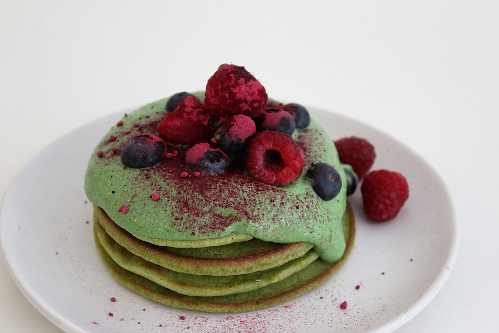 gluten free berry pancakes
