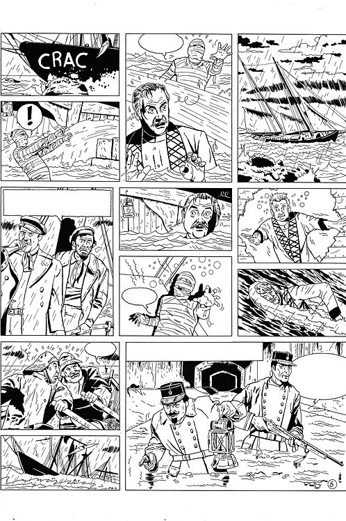 LA BRIGADE DE L'ÉTRANGE - TOME 2 - PAGE 5 - PLANCHE ORIGINALE
