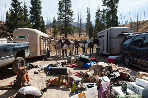 The trip is entirely self- supported, takes over a thousand pounds of gear and food, and three trips to get camp setup.
