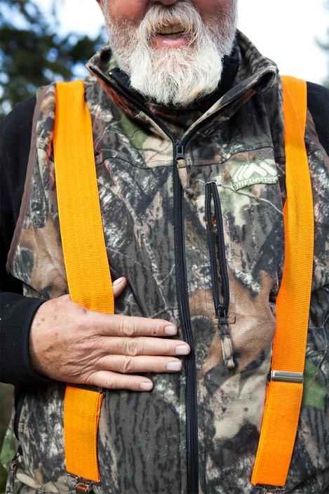 Hal's hunting fashion.