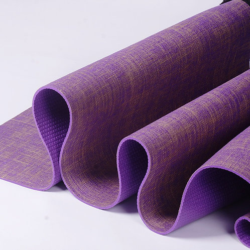 Purple Jute Yoga Mat