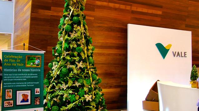 Árvore de Natal p/empresa Vale