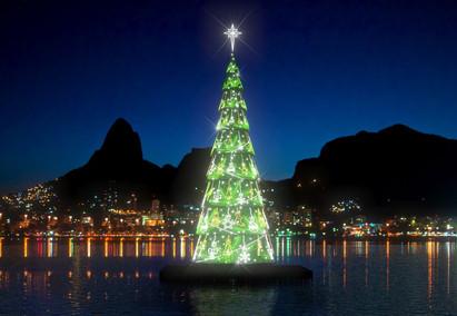 Árvore de natal da Lagoa Rodrigo de Freitas