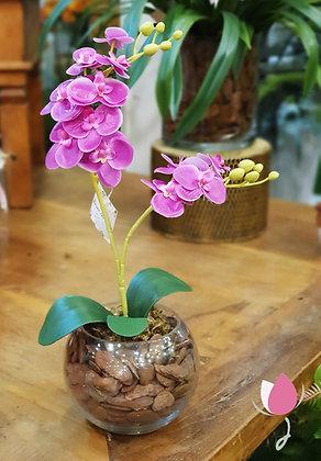 Arranjo de Orquídea Roxa P