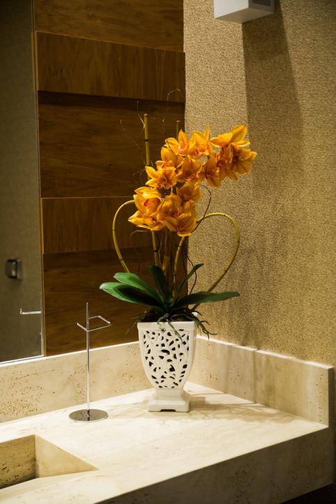 Arranjo de Orquídea Cymbidium Permanente