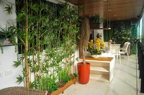 Jardineira com Bambu Japonês Permanente