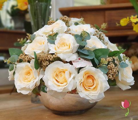 Arranjo de Rosas Brancas