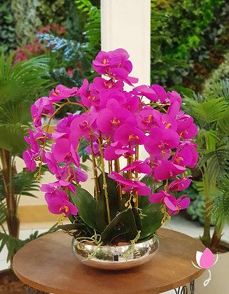 Arranjo de Orquídeas Roxas
