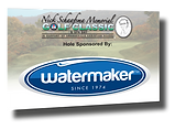Tee and hole signs designed for the Orangeville Christian School golf tournament - Watermaker