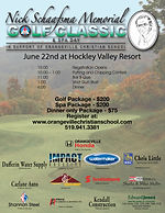 Banner designed for the Orangeville Christian School Golf Tournament