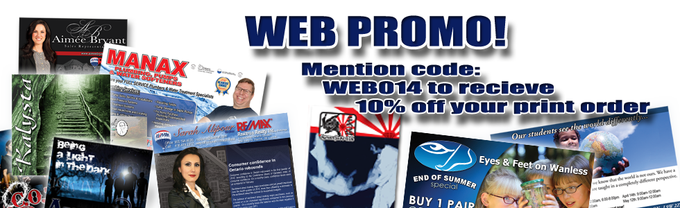 Business card web promo