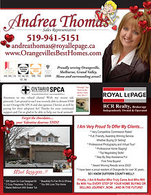 Newsletter designed for Andrea Thomas - Orangeville, Ontario