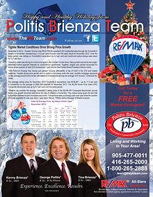 Newsletter designed for the Politis Brienza Team - Toronto, Ontario