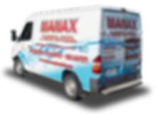 Truck wrap designed for Manax plumbing in Orangeville