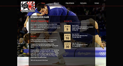 Dyman Judo Club website | Designed and developed by Impact Kreative in Orangeville