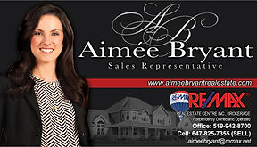 Business card designed for Aimee Bryant in Orangeville