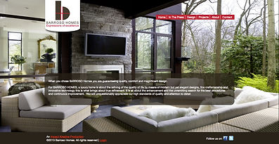 Barroso Custom Homes website | Designed and developed by Impact Kreative in Orangeville