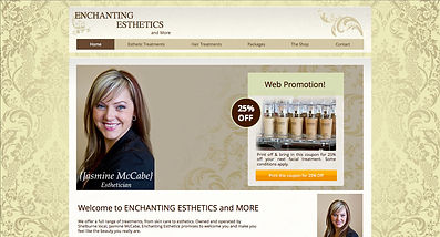 Enchanting Esthetics and More website | Designed and developed by Impact Kreative in Orangeville
