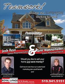 Newsletter designed for Josh Reso and Terri Wannamaker - Orangeville, Ontario