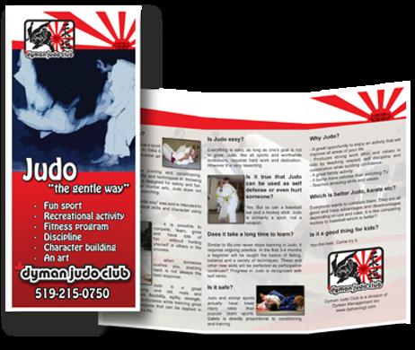 Dyman Judo Club Orangeville Brochure