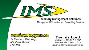 Business card designed for IMS Consulting in Barrie