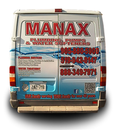 Truck wrap designed for Manax plumbing in Orangeville - Back
