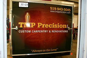 Truck sign for TMP Precision in Orangeville