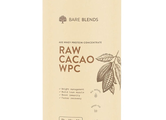 Bare Blends Organic WPC 1kg (vanilla or cacao)