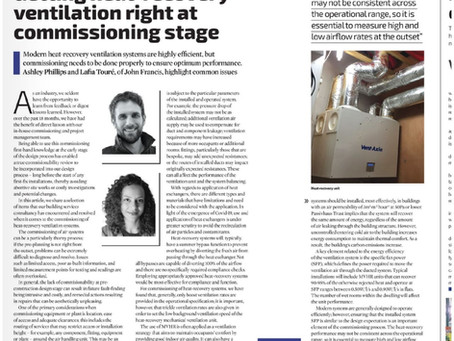 John Francis First Article within CIBSE Journal
