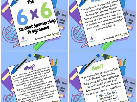 6x6 Student Sponsorship Programme
