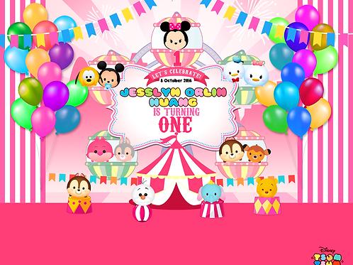 Tsum Tsum Carnival Pink