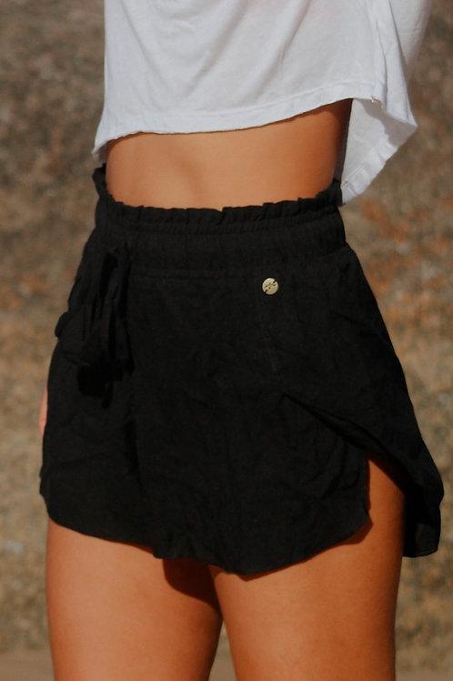 c Shorts linho Preto