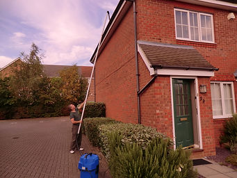 Gutter Cleaning in progress, Carried out by Guttervacsc