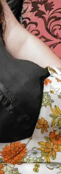 Reversible underbust corset (see floral corset)